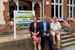 Carol, Alex and Neil at Marlow Library