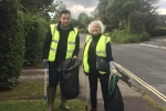 Anita and Jackson our litter picking in Beaconsfield