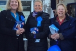 Luisa, Jilly and Wendy on the campaign trail